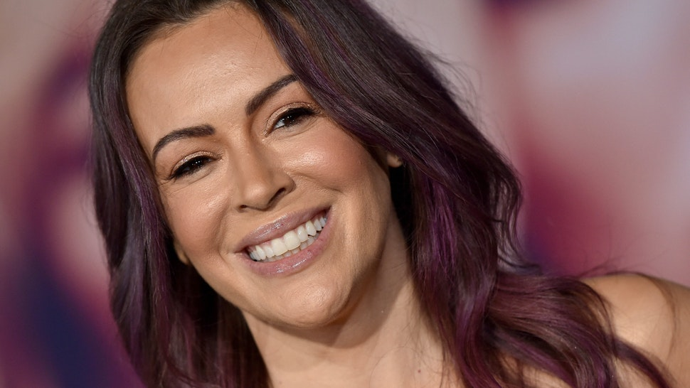 """WESTWOOD, CALIFORNIA - DECEMBER 10: Alyssa Milano attends the special screening of Liongate's """"Bombshell"""" at Regency Village Theatre on December 10, 2019 in Westwood, California. (Photo by Axelle/Bauer-Griffin/FilmMagic)"""