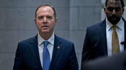 Representative Adam Schiff, a Democrat from California, arrives to a weekly Democratic caucus meeting at the U.S. Capitol in Washington, D.C., U.S., on Wednesday, Feb. 5, 2020. President Donald Trump's inevitable acquittal in the Senate's impeachment trial today has some House Democrats fretting that they should have delivered a more complete case to argue for his removal. Photographer: Andrew Harrer/Bloomberg via Getty Images