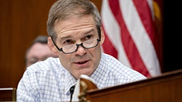 Representative Jim Jordan, a Republican from Ohio and ranking member of the House Oversight Committee, makes an opening statement during a hearing in Washington, D.C., U.S., on Wednesday, March 11, 2020.