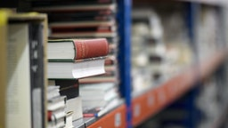 This picture taken on April 27, 2020 shows thousands of books piling up on pallets and shelves in a warehouse of book distributor Les Punxes in Sant Feliu de Llobregat, near Barcelona, during a national lockdown to prevent the spread of the COVID-19 disease. - With bookstores closed, there is little order or revenue for a publishing sector that had not yet recovered from the previous crisis. (Photo by LLUIS GENE / AFP) (Photo by LLUIS GENE/AFP via Getty Images)