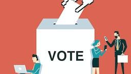 On-line Voting - Voters - stock vector