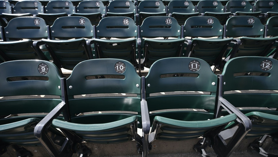 CHICAGO, ILLINOIS - MAY 08: A general view of seats in the outfield at Guaranteed Rate Feld, home of the Chicago White Sox, on May 08, 2020 in Chicago, Illinois. The 2020 Major League Baseball season is on hold due to the COVID-19 pandemic. (Photo by Jonathan Daniel/Getty Images)