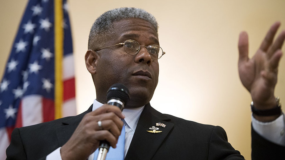 Rep. Allen West, R-Fla., of Florida's 18th District, speaks to a meeting of the Independent Insurance Agents of Palm Beach County, in West Palm Beach, Fla. West is running against democrat Patrick Murphy.