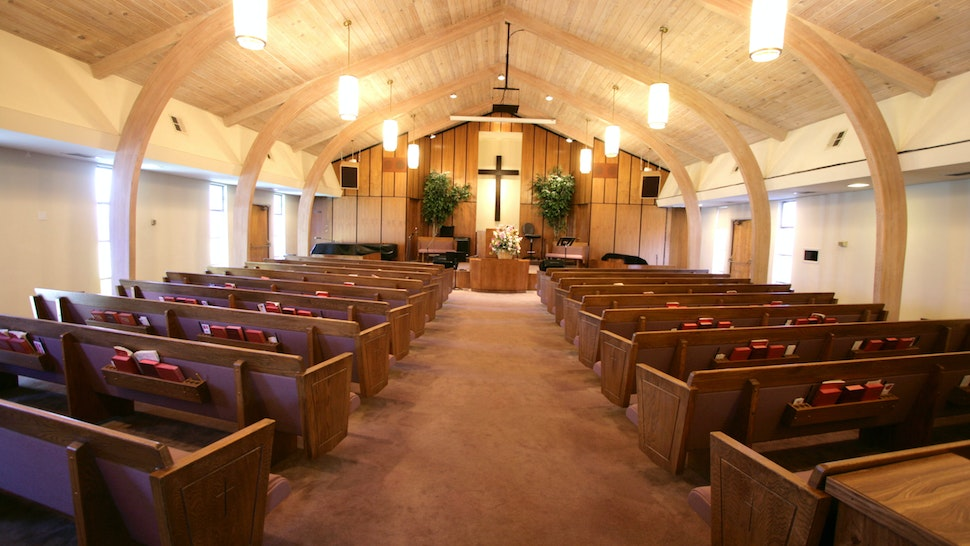 Small Church Sanctuary - stock photo