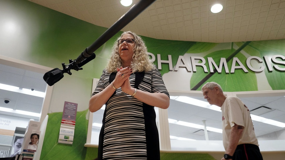 HARRISBURG, PA,- MAY 17: Rachel Levine, MD, physician general for the state of Pennsylvania, is interviewed following a press conference at a pharmacy in Harrisburg, PA, on May 17, 2016. Levine previously issued a standing order for naloxone, a drug that can reverse an opioid overdose, and has been visiting pharmacies to ensure access to the drug. Levine is the highest ranking transgender person in the state. (Photo by Bonnie Jo Mount/The Washington Post via Getty Images)HARRISBURG, PA,- MAY 17: Rachel Levine, MD, physician general for the state of Pennsylvania, is interviewed following a press conference at a pharmacy in Harrisburg, PA, on May 17, 2016. Levine previously issued a standing order for naloxone, a drug that can reverse an opioid overdose, and has been visiting pharmacies to ensure access to the drug. Levine is the highest ranking transgender person in the state. (Photo by Bonnie Jo Mount/The Washington Post via Getty Images)