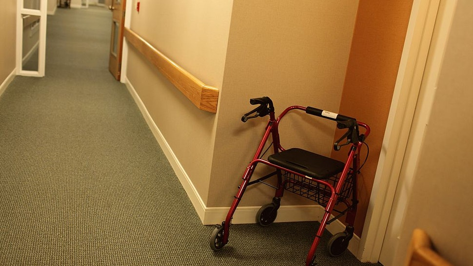 A view of a hallway at an independent living facility