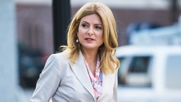 Civil rights attorney Lisa Bloom is seen around the Montgomery County Courthouse during the third day of Bill Cosby's sexual assault charges on April 11, 2018 in Norristown, Pennsylvania.