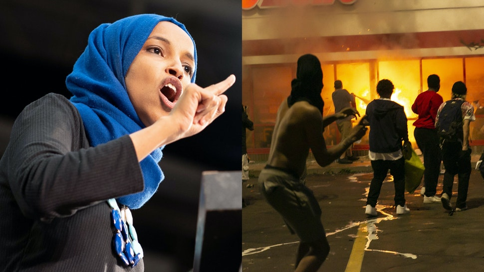 Ilhan Omar rioters