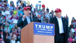 MADISON, AL - FEBRUARY 28: United States Senator Jeff Sessions, R-Alabama, beomes the first Senator to endorse Donald Trump for President of the United States at Madison City Stadium on February 28, 2016 in Madison, Alabama.