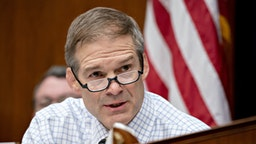 Representative Jim Jordan, a Republican from Ohio and ranking member of the House Oversight Committee, makes an opening statement during a hearing in Washington, D.C., U.S., on Wednesday, March 11, 2020. The U.S. has shifted into a new phase of its coronavirus response after efforts to stamp out sparks of an outbreak have failed. Authorities now are focusing on limiting damage.