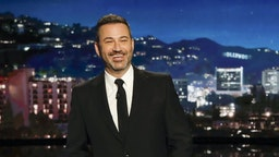 """""""Jimmy Kimmel Live!"""" airs every weeknight at 11:35 p.m. EST and features a diverse lineup of guests that include celebrities, athletes, musical acts, comedians and human interest subjects, along with comedy bits and a house band. The guests for Tuesday, January 28, included Magic Johnson, Ben Schwartz (""""Sonic the Hedgehog""""), and musical guest Charlie Wilson. (Randy Holmes via Getty Images)"""