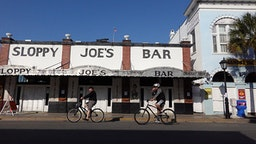 KEY WEST, FLORIDA - MARCH 25: The famous Sloppy Joe's Bar is seen after it closed as the city government takes steps to fight the coronavirus outbreak on March 25, 2020 in Key West, Florida. Most tourists have left Key West as the city closed hotels or short-term vacation rentals and asked restaurants to only serve take-out. Beaches and parks have been closed and starting Friday non-residents may not enter without proof of employment or property ownership in the Florida Keys as city officials attempt to contain COVID-19.
