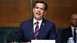 Rep. John Ratcliffe, R-TX, gives an opening statement before a Senate Intelligence Committee nomination hearing on Capitol Hill in Washington,DC on May 5, 2020. - The panel is considering Ratcliffes nomination for Director of National Intelligence.