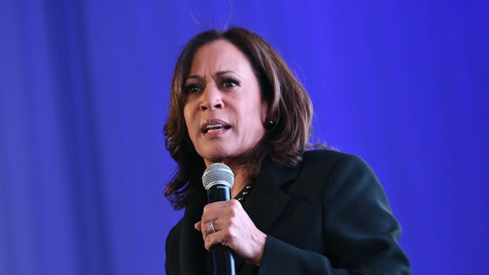 LOS ANGELES, CALIFORNIA - FEBRUARY 20: Senator Kamala Harris speaks at META - Convened by BET Networks at The Edition Hotel on February 20, 2020 in Los Angeles, California.
