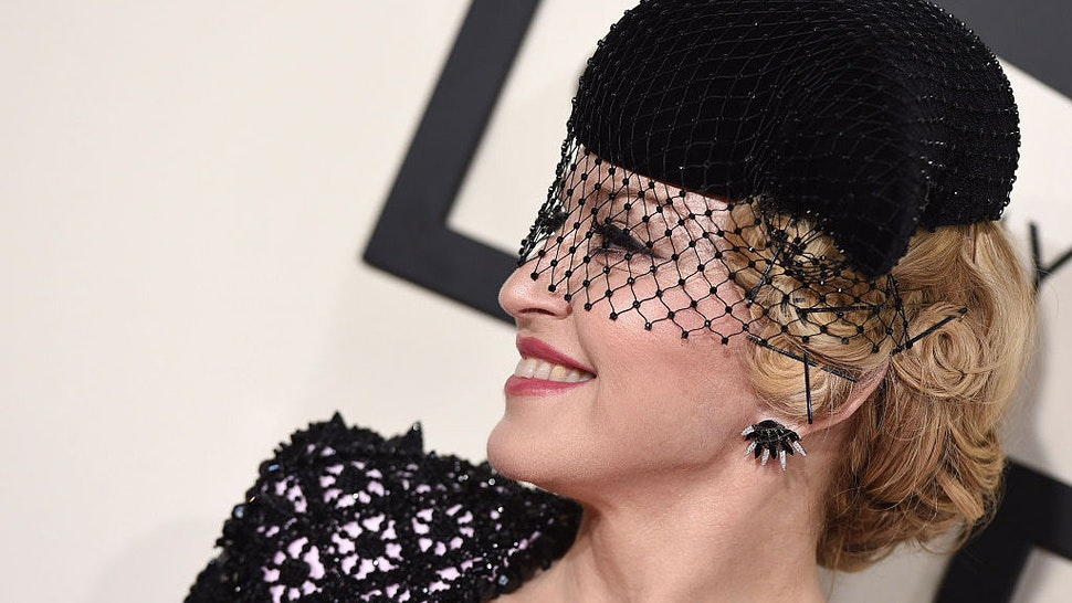 Recording artist Madonna arrives at the 57th Annual GRAMMY Awards at Staples Center on February 8, 2015 in Los Angeles, California. (Photo by Axelle/Bauer-Griffin/FilmMagic)