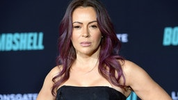 """WESTWOOD, CALIFORNIA - DECEMBER 10: Alyssa Milano attends a Special Screening of Liongate's """"Bombshell"""" at Regency Village Theatre on December 10, 2019 in Westwood, California."""