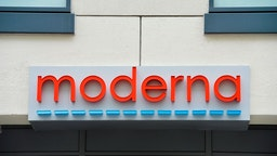 The Moderna headquarters are seen in Cambridge, Massachusetts on May 18, 2020. - US biotech firm Moderna reported promising early results from the first clinical tests of an experimental vaccine against the novel coronavirus performed on a small number of volunteers. The Cambridge, Massachusetts-based company said the vaccine candidate, mRNA-1273, appeared to produce an immune response in eight people who received it similar to that seen in people convalescing from the virus. (Photo by Joseph Prezioso / AFP) (Photo by JOSEPH PREZIOSO/AFP via Getty Images)