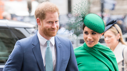 LONDON, ENGLAND - MARCH 09: Prince Harry, Duhcess of Sussex and Meghan, Duchess of Sussex attends the Commonwealth Day Service 2020 on March 09, 2020 in London, England.