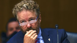 WASHINGTON, DC - MAY 12: U.S. Senator Rand Paul (R-KY) listens to testimony during the Senate Committee for Health, Education, Labor, and Pensions hearing on COVID-19 May 12, 2020 in Washington, D.C. The committee will hear testimony from members of the White House Coronavirus Task Force on how to safely open the country and get America back to work and school.