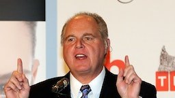 Rush Limbaugh during a news conference for judges in the 2010 Miss America Pageant at the Planet Hollywood Resort & Casino January 27, 2010 in Las Vegas, Nevada. The pageant will be held at the resort on January 30, 2010.