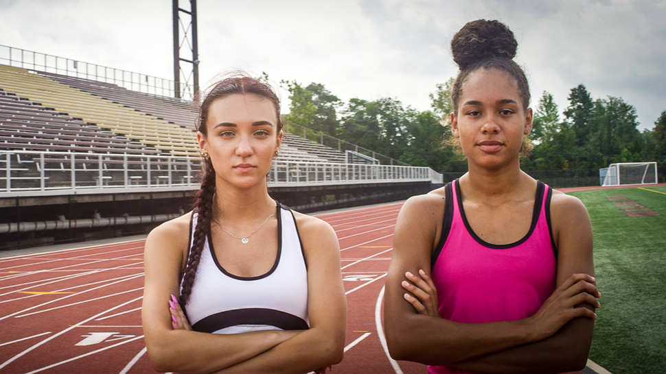 High-school athletes Selina Soule (left) and Alanna Smith (right), who compete within the Connecticut Interscholastic Athletic Conference.