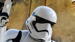 "A stormtrooper at Star Wars: Galaxy""u2019s Edge inside Disneyland in Anaheim, CA, on Tuesday, Jan 7, 2020. (Photo by Jeff Gritchen, Orange County Register/SCNG)"
