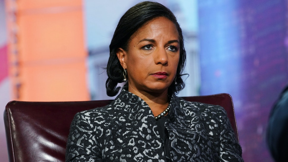 """Susan Rice, former U.S. national security advisor, listens during a Bloomberg Television interview in New York, U.S., on Tuesday, Oct. 8, 2019. Rice discussed her book """"Tough Love."""""""
