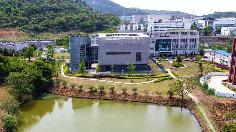 An aerial view shows the P4 laboratory (C) at the Wuhan Institute of Virology in Wuhan in China's central Hubei province on April 17, 2020. - The P4 epidemiological laboratory was built in co-operation with French bio-industrial firm Institut Merieux and the Chinese Academy of Sciences. The facility is among a handful of labs around the world cleared to handle Class 4 pathogens (P4) - dangerous viruses that pose a high risk of person-to-person transmission.