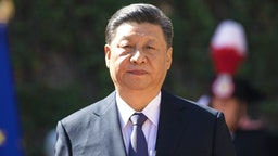 Xi Jinping, China's president, arrives for the signing of the memorandum of understanding on China's Belt and Road Initiative with Giuseppe Conte, Italy's prime minister, not pictured, at Villa Madama in Rome, Italy, on Saturday, March 23, 2019. Xi Jinping recruited Italys populist government into his global Belt and Road development project, with the signing of an accord that has sparked worries in the U.S. and European Union over the Asian powers push for economic domination.