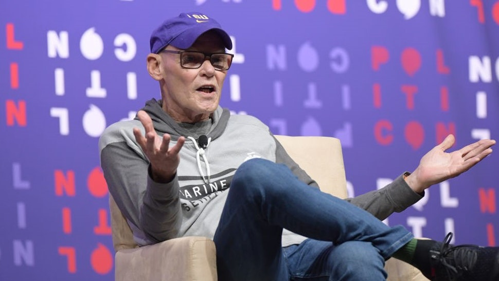 NASHVILLE, TENNESSEE - OCTOBER 26: James Carville speaks onstage during the 2019 Politicon at Music City Center on October 26, 2019 in Nashville, Tennessee. (Photo by