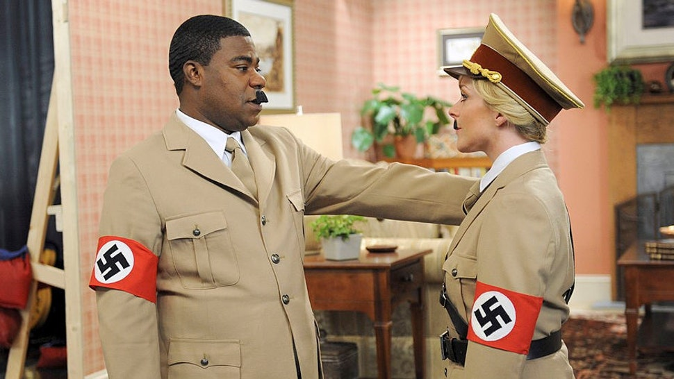 "30 ROCK -- ""Part 1: Hogcock! Part 2: Last Lunch"" Episode 712/713 -- Pictured: (l-r) Tracy Morgan as Tracy Jordan, Jane Krakowski as Jenna Maroney -- (Photo by:"