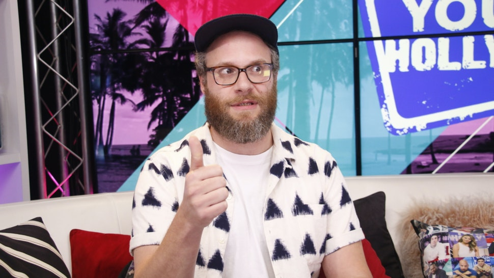 Seth Rogen visits the Young Hollywood Studio on July 28, 2018 in Los Angeles, California.