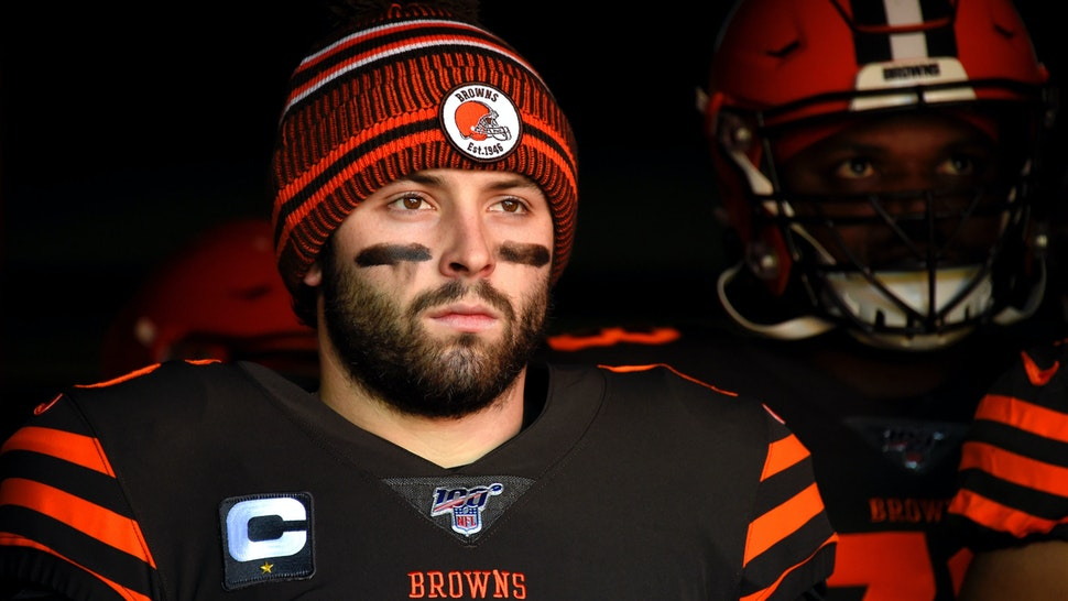Baker Mayfield #6 of the Cleveland Browns prepares to take the field prior to the game against the Baltimore Ravens at FirstEnergy Stadium on December 22, 2019 in Cleveland, Ohio.