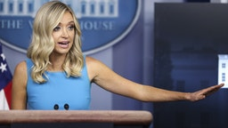 Kayleigh McEnany, White House press secretary, speaks during a briefing in Washington, D.C., U.S., on Wednesday, June 3, 2020.