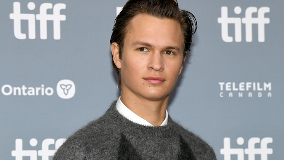 "TORONTO, ONTARIO - SEPTEMBER 08: Ansel Elgort attends ""The Goldfinch"" press conference during the 2019 Toronto International Film Festival at TIFF Bell Lightbox on September 08, 2019 in Toronto, Canada."