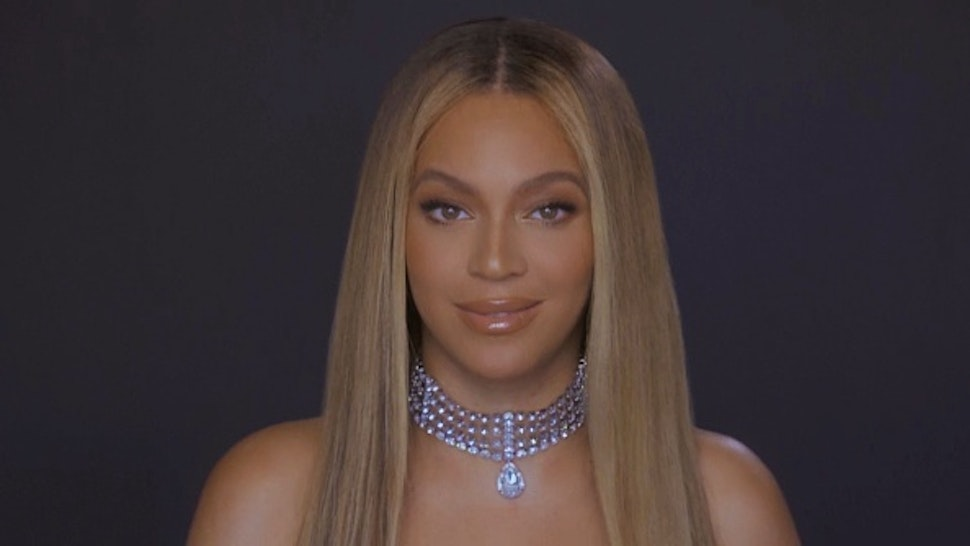 VARIOUS CITIES - JUNE 28: In this screengrab, Beyoncé is seen during the 2020 BET Awards. The 20th annual BET Awards, which aired June 28, 2020, was held virtually due to restrictions to slow the spread of COVID-19.