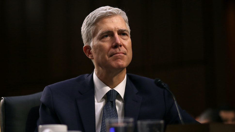 Judge Neil Gorsuch testifies during the third day of his Supreme Court confirmation hearing before the Senate Judiciary Committee in the Hart Senate Office Building on Capitol Hill, March 22, 2017 in Washington.
