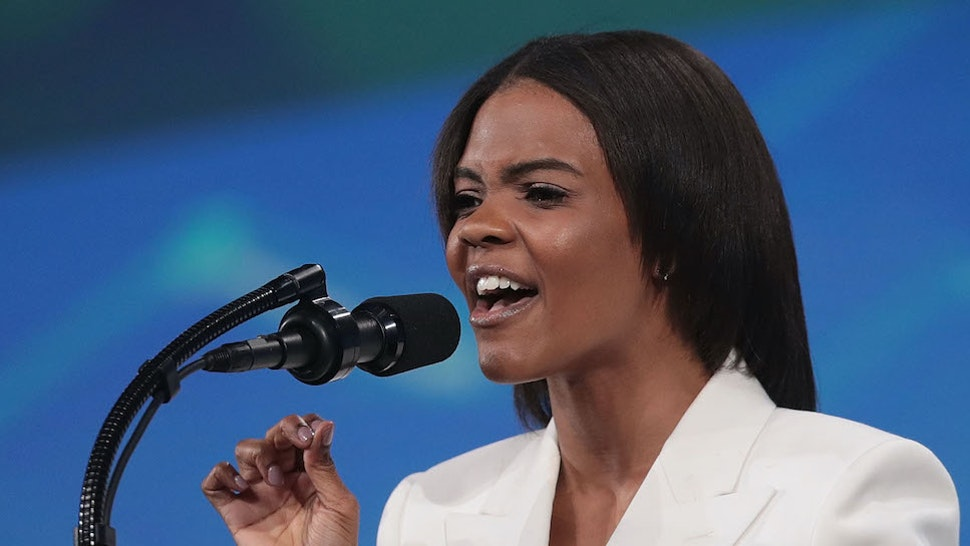 Activist Candace Owens speaks to guests during the NRA-ILA Leadership Forum at the 148th NRA Annual Meetings & Exhibits on April 26, 2019 in Indianapolis, Indiana. The convention, which runs through Sunday, features more than 800 exhibitors and is expected to draw 80,000 guests. (Photo by Scott Olson/Getty Images)