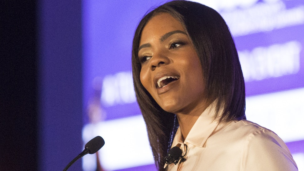 Conservative commentator, Candace Owens, speaks at the Turning Point USA Young Women's Leadership Summit in Dallas, Texas, on June 16, 2018.