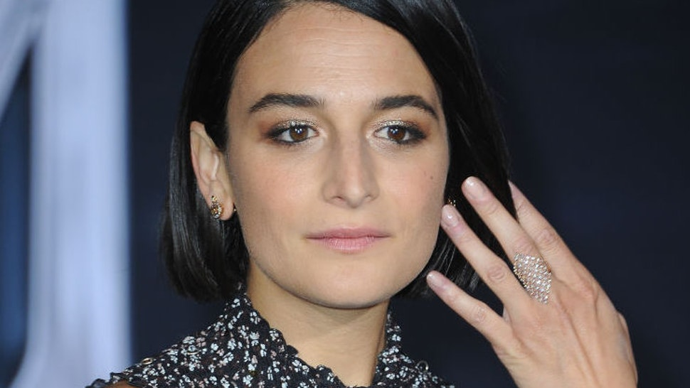 "Actress Jenny Slate arrives for Premiere Of Columbia Pictures' ""Venom"" held at Regency Village Theatre on October 1, 2018 in Westwood, California."