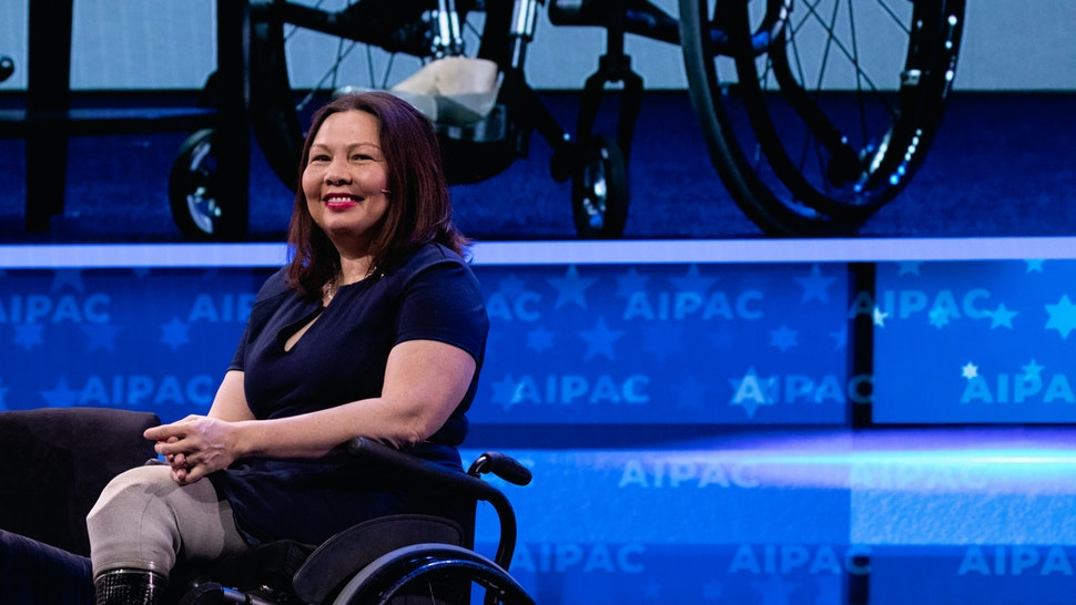 Senator Tammy Duckworth (D-IL), speaks at the 2019 American Israel Public Affairs Committee (AIPAC) Policy Conference, at the Walter E. Washington Convention Center in Washington, D.C., on Monday, March 25, 2019. (Photo by Cheriss May/NurPhoto via Getty Images)