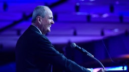 Governor of New Jersey Phil Murphy speaks onstage during the Liberty Science Center Genius Gala 8 at Liberty Science Center on May 13, 2019 in Jersey City, New Jersey.