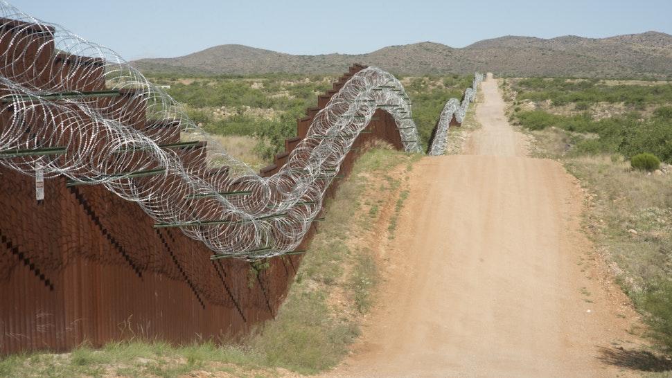 Border Wall - stock photo