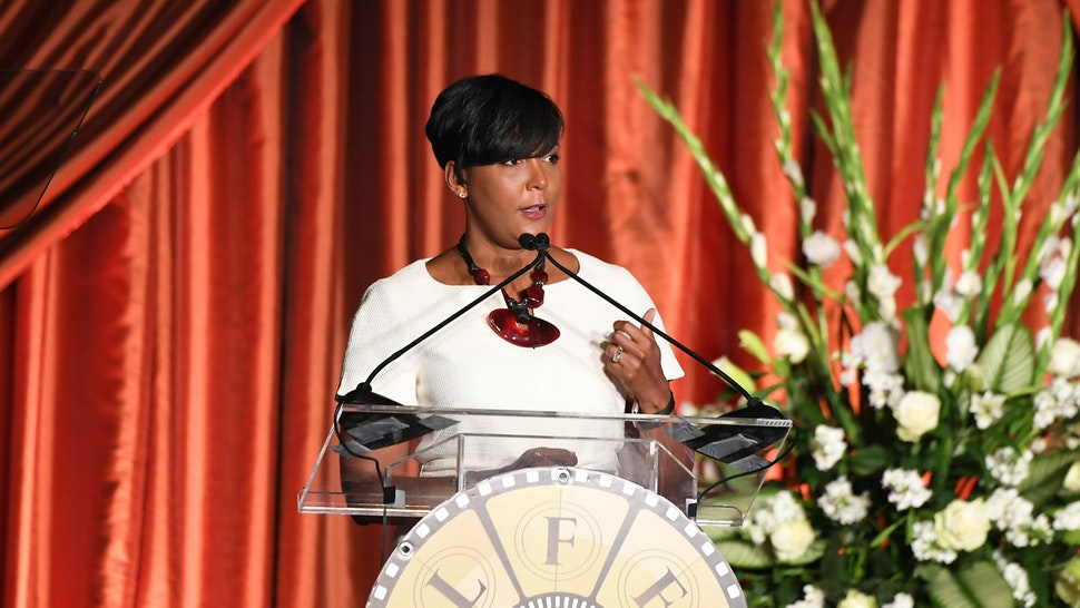 ATLANTA, GEORGIA - AUGUST 23: Atlanta mayor Keisha Lance Bottoms speaks onstage during the 10th Annual BronzeLens Film Festival Women Superstars Luncheon on August 23, 2019 in Atlanta, Georgia. (Photo by Paras Griffin/Getty Images)