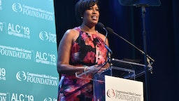 Washington DC Mayor Muriel Bowser speaks onstage at the Congressional Black Caucus' Annual Legislative Conference's Phoenix Awards Dinner at The Walter E. Washington Convention Center on September 14, 2019 in Washington, DC.