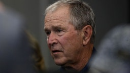 Former President George W. Bush attends the NFL game between the Dallas Cowboys and the Green Bay Packers at AT&T Stadium on October 06, 2019 in Arlington, Texas.