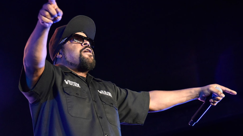 """Ice Cube performs during the """"How the West was Won"""" tour at Toyota Amphitheatre on October 12, 2019 in Wheatland, California."""