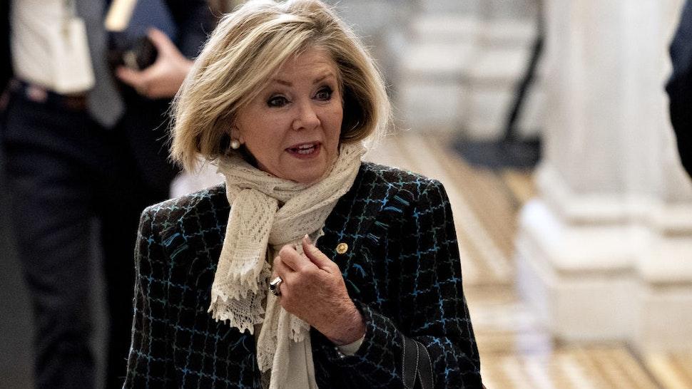 Senator Marsha Blackburn, a Republican from Tennessee, arrives at the U.S. Capitol in Washington, D.C., U.S., on Wednesday, Jan. 22, 2020.
