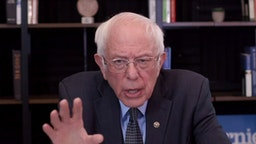WASHINGTON, DC - MARCH 17: In this screengrab taken from a berniesanders.com webcast, Democratic presidential candidate Sen. Bernie Sanders (I-VT) talks about his plan to deal with the coronavirus pandemic on March 17, 2020 in Washington, D.C. Businesses are being severely impacted, schools are closing temporarily and large events are being postponed as the COVID-19 virus continues to spread across the country. (Photo by berniesanders.com via Getty Images)