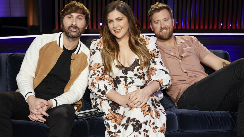"""SONGLAND -- """"Lady Antebellum"""" Episode 201 -- Pictured: (l-r) Dave Haywood,Hillary Scott, Charles Kelley of Lady Antebellum -- (Photo by: Trae Patton/NBC)"""